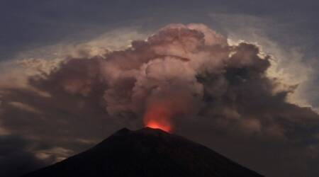 Bali airport shut as Agung volcano gushes ash