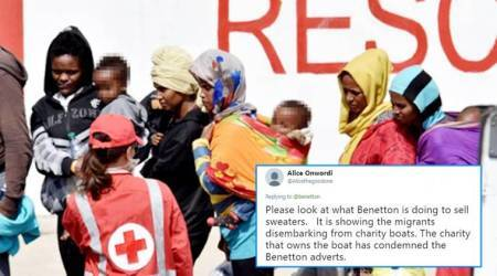 Benetton uses pictures of migrant rescue operation as advertising campaign; Twitterati criticise the brand for being 'opportunistic'