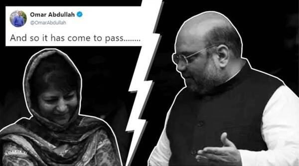 bjp pdp alliance, bjp pulls out of pdp alliance, bjp-pdp alliance jammu and kashmir, bjp pdp alliance mehbooba mufti, mehbooba mufti alliance, mehbooba mufti PDP resigns, Indian express, Indian express news
