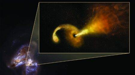 Astronomers spot supermassive blackhole destroying star