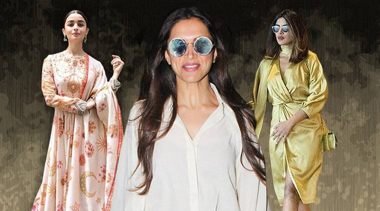 bollywood fashion watch, Deepika Padukone, Priyanka Chopra, celeb fashion, bollywood fashion, indian express, indian eoxress news