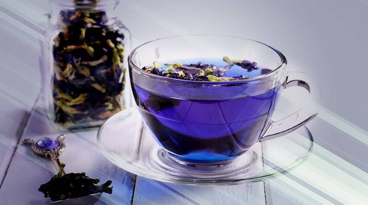 Blue tea, what is blue tea, what is butterfly pea flower tea, blue tea healthy, blue tea health benefits, blue tea or green tea healthy, blue tea taste, blue tea pregnancy, blue tea stress, indian express, indian express news