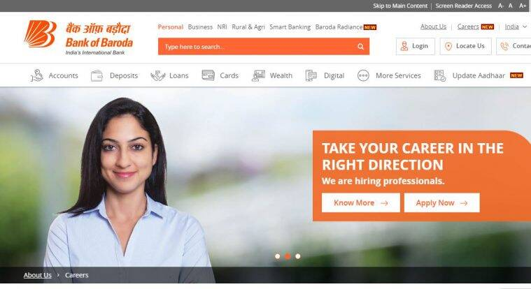 Bank of Baroda recruitment, BOB jobs, bank jobs, bankofbaroda.co.in