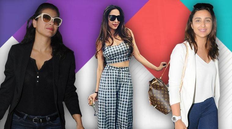 Bollywood fashion, celeb fashion, Parineeti Chopra, Malaika Arora, Kajol, indian express, indian express news
