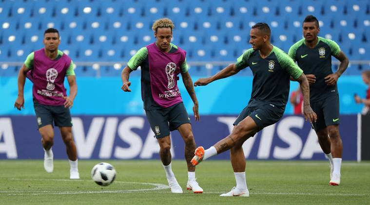 Neymar misses Brazil World Cup training