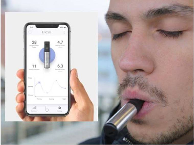'b', a smart breathing product that aims to monitor breathing cycles and improve wellness, is now listed on indiegogo.