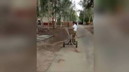 WATCH: This simple sweeping machine has impressed Anand Mahindra but notTwitterati
