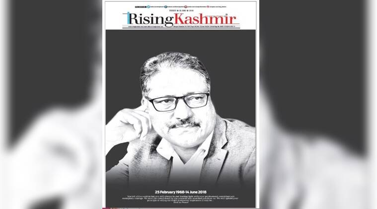 'Rising Kashmir' hits stands with Shujaat Bukhari's picture in black background
