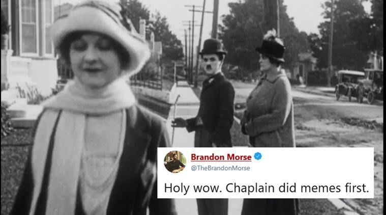 charlie chaplin, distracted boyfriend meme, unfaithful boyfriend meme, chaplin meme, distracted boyfriend meme chaplin version, old distracted man meme, viral news, indian express, funny news