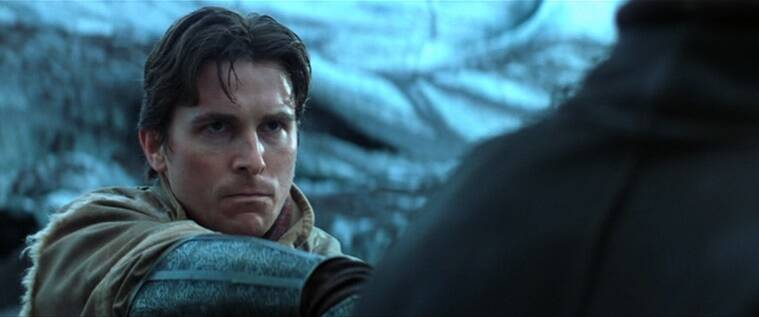 christian bale as bruce wayne in batman begins