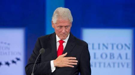 Bill Clinton bristles at questions on Lewinsky, #MeToo