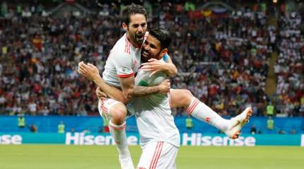 Lucky Spain top Group B after win against Iran