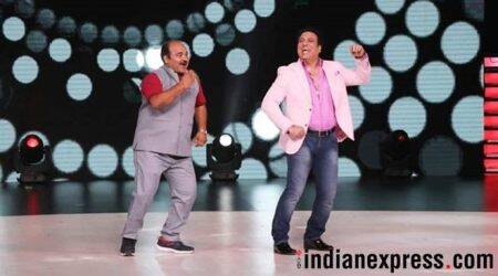 dancing uncle and govinda