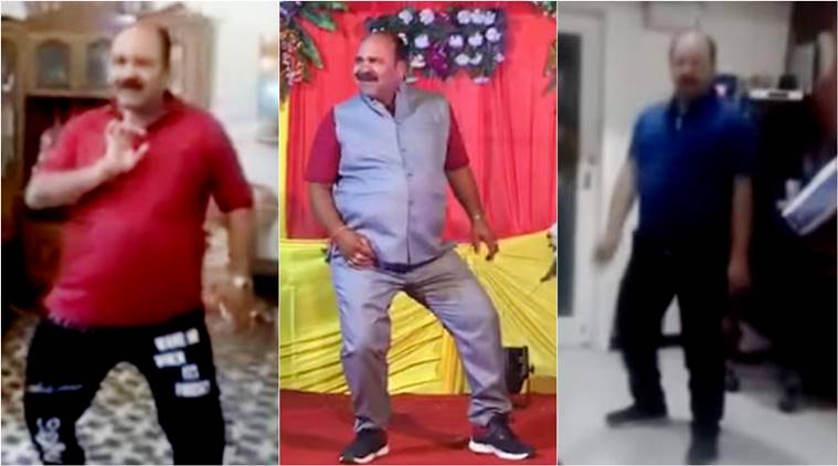 uncle dance Aap Ke Aa Jane Se, wedding dance, funny wedding dance, funny wedding dance viral, viral wedding dance, indian express, indian express trending news