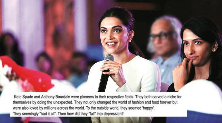 Deepika Padukone Deepika Padukone depression Deepika Padukone mental health Deepika Padukone Live Laugh Love Foundation Deepika Padukone Instagram post depression indian express indian express news