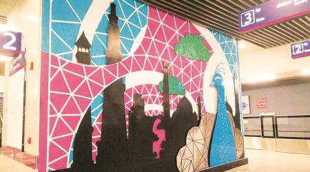 Delhi follows trend as artwork adorns city's new metro stations
