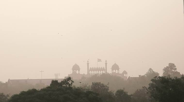 Why Delhi is covered by a thick layer of dust