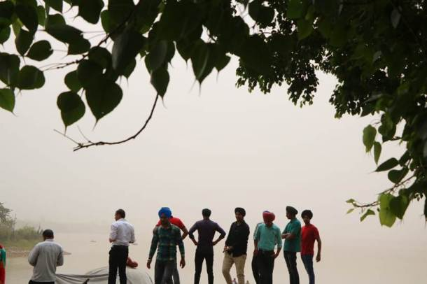People are advised to remain indoors as the current situation is likely to cause discomfort or breathing difficulties. (Express photo/Jasbir Malhi)