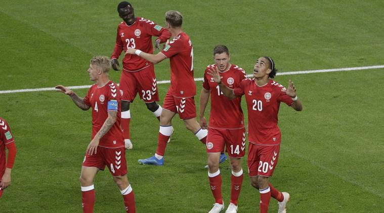Denmarks Yussuf Yurary Poulsen Scored The Only Goal To Beat Peru   Source Ap