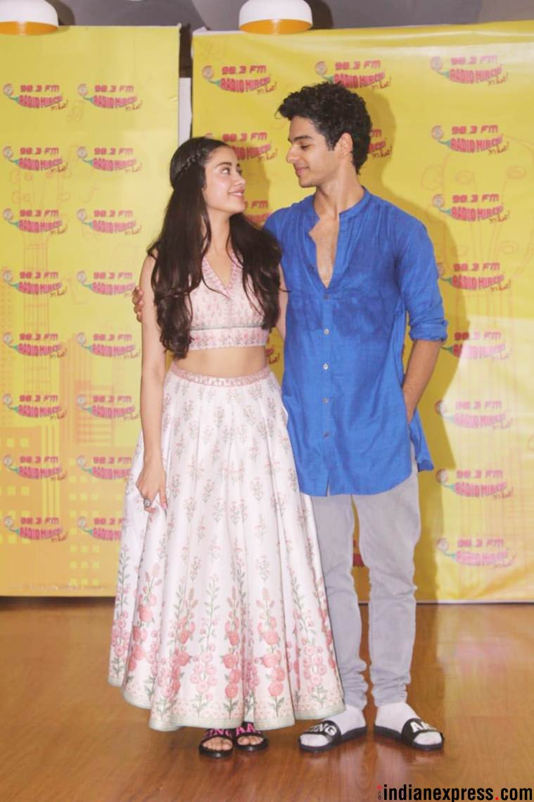 dhadak actors Ishaan Khatter and Janhvi Kapoor prmote Zingaat