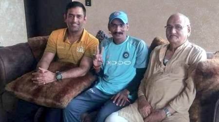 MS Dhoni hosts die-hard fan Sudhir Gautam for lunch; see pics
