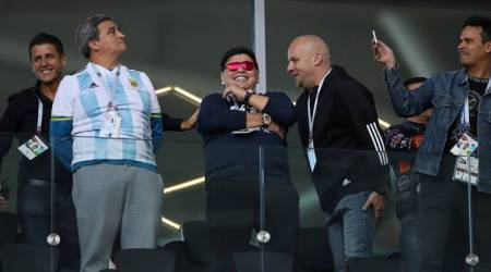 FIFA World Cup 2018: Diego Maradona accused of racist gestures towards South Koreanfans