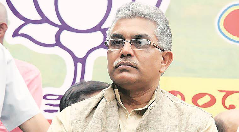 dilip ghosh, dilip ghosh attacked, bengal bjp chief, west bengal bjp, tmc, indian express news