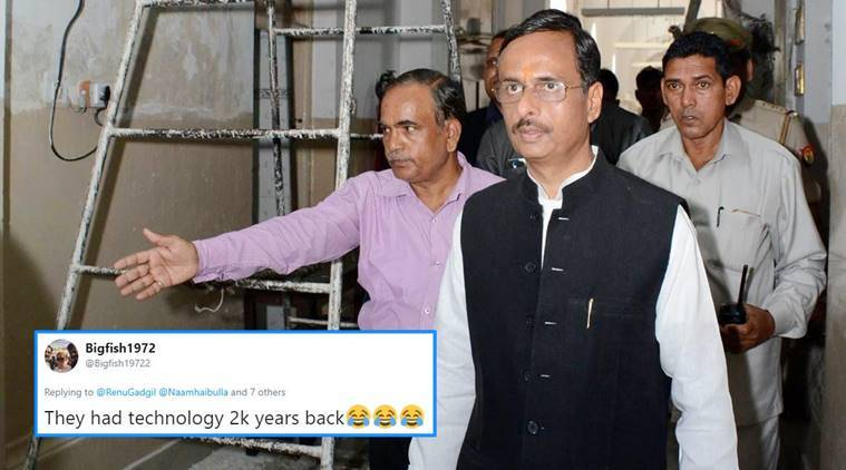 Deputy CM Dinesh Sharma, Dinesh Sharma sita comment, sita test tube comment, Dinesh Sharma test tube comment, Dinesh Sharma funny comments, Dinesh Sharma tweet, viral tweet, indian express, indian express news