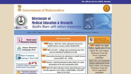 NEET UG Counselling 2018: DMER begins registration, first merit list releasing on June 19
