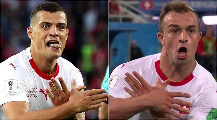 FIFA Word Cup 2018,Shaqiri, Xhaka, fifa world cup live streaming, serbia vs switzerland, serbia vs switzerland score, world cup, indian express, indian express news