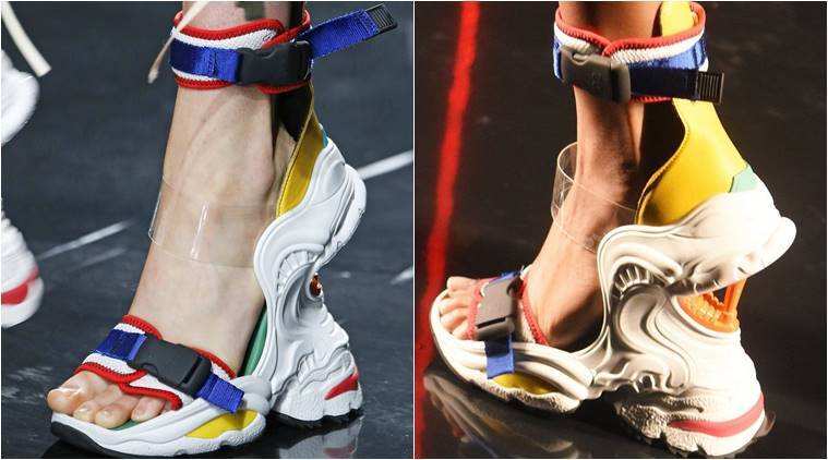 DSquared2, DSquared2 dad sneaker, Milan Men's Fashion Week show, DSquared2 Milan Men's Fashion, Balenciaga,