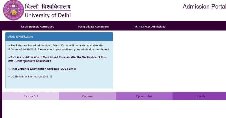 DU admissions 2018, Delhi University admissions, DU, DU entrance test 2018