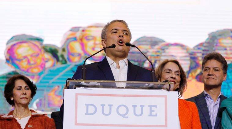 Colombia, Ivan Duque, Colombia president, Colombian Presidential elections, world news, indian express news