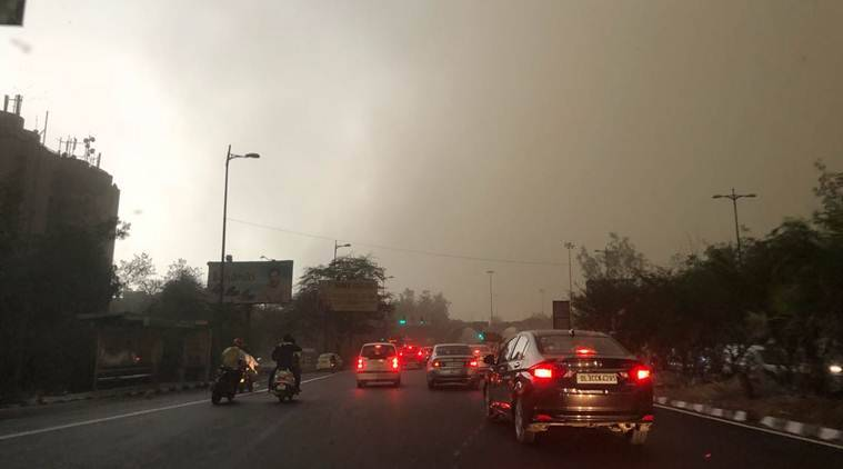 delhi air quality, delhi dust storm, western up dust storm, indian express, delhi air pollution