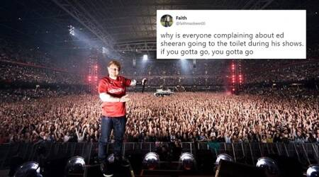 Ed Sheeran took pee breaks in the middle of a sold-out concert and Internet users are nowdivided