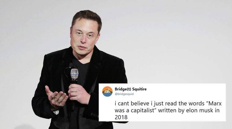 elon musk, elon musk marx, elon musk capitalist, elon musk socialts, elon musk socialism, elon musk marx capitalist tweet, viral news, indian express, tech news,