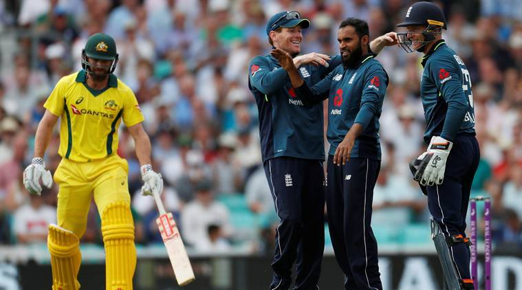 Englands Adil Rashid Rashid Took   As Australia Was Bowled Out For  Overs Source Reuters