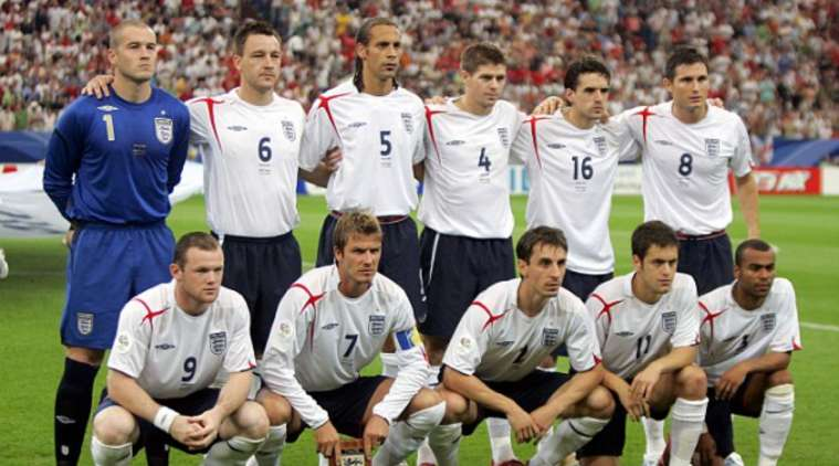 England's 2006 World Cup squad in Germany