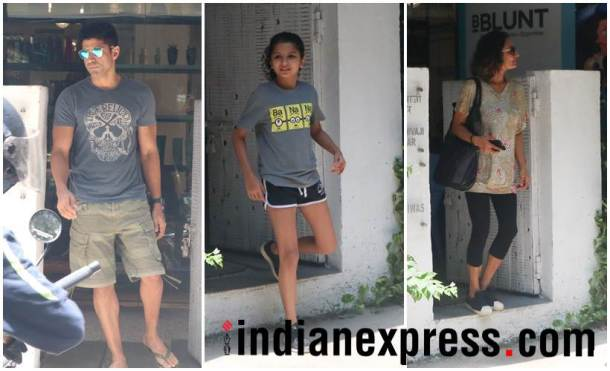 Farhan Akhtar, ex-wife Adhuna Bhabani and daughter
