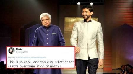 Javed Akhtar translates Farhan Akhtar's poem into Hindi; Twitterati call it #FatherGoals