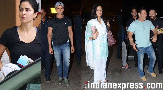 Celeb spotting: Katrina Kaif, Janhvi Kapoor, Hrithik Roshan, Salman Khan and others