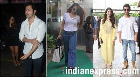 Malaika Arora, Varun Dhawan and Aayush Sharma