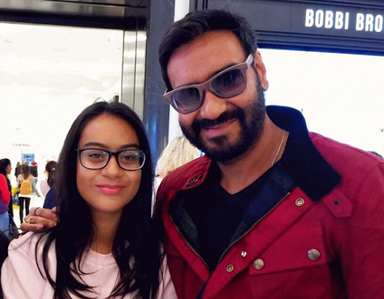 Ajay Devhn with daughter
