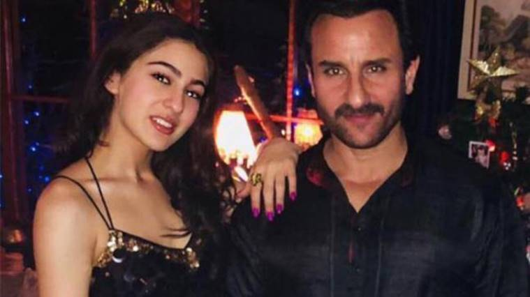 Saif with Sara Ali Khan