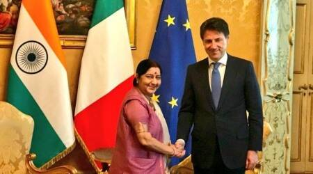 Sushma Swaraj calls Italian PM; discusses steps to revitalise bilateral ties