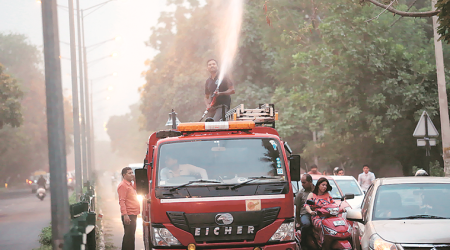 To clear the air, Panchkula firemen use 57,000 litres water in two days