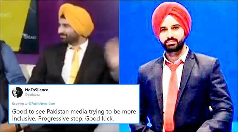 Pakistani news channel hires first male Sikh news anchor, earns