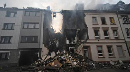 Germany building explosion, explosion in German building, Wuppertal building explosion, Germany explosion, indian express