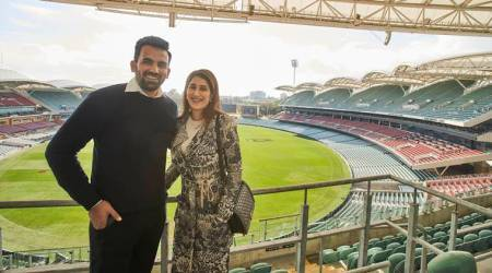 Zaheer Khan, wife Sagarika Ghatge enjoy time in Australia, former fast bowler felicitated at Adelaide Oval