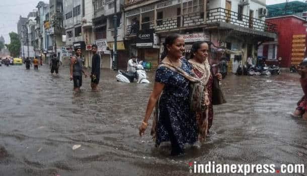 heavy rains lash gujarat, waterlogging in several cities